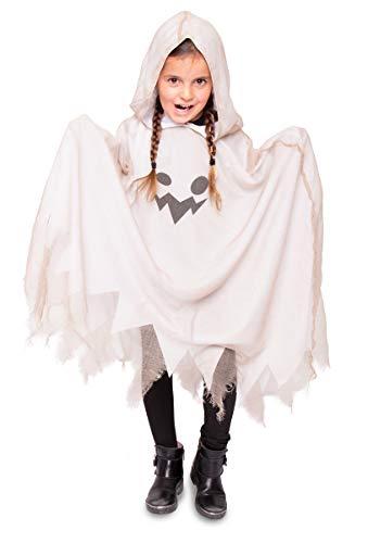 Der Childs Geist Kostüm - Folat 63439 Geist Poncho für Kinder - Einheitsgröße, Unisex Children, Weiß, One Size Fits Most