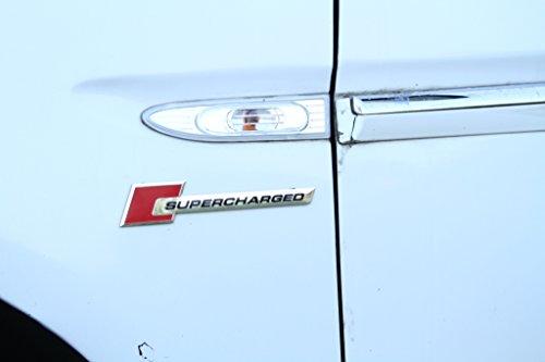 Sluggish Automotive Accessories Sluggish Automotive Accessories Supercharged Metallic Universal Red Black Silver Car Sticker