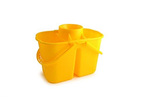 Doppio secchio mop, capacità: 15l, giallo