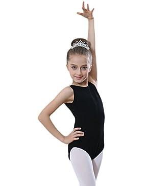 Yiiquan Ragazze Bambini Costumi Senza Maniche Ginnastica di Usura Ballo Body Backless