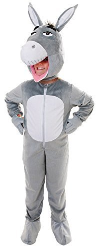 Fancy Me-Body-Kinder - Grau, (Kostüme Maskottchen Esel)