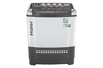 Haier 7.8 kg Semi-Automatic Top Loading Washing Machine (HTW80-185VA-1, Grey)