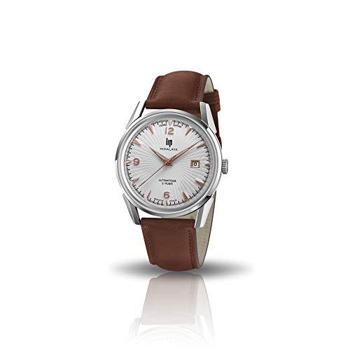 LIP Himalaya 40 Automatique Verre Saphir Automatique bracelet Marron-671583