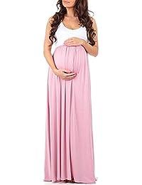 2055662d23fc Abito di maternità Donne S Girocollo Senza Maniche Unique Stlie maternità  Infermieristica Maxi Serbatoio Abiti più