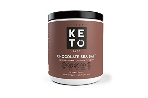 Perfect Keto Base Exogenous Ketone Supplement – Beta-Hydroxybutyrate (Bhb) Salts Developed to Burn Fat, Increase Energy and Kickstart Ketosis. Chocolate Sea Salt Flavor (211G)
