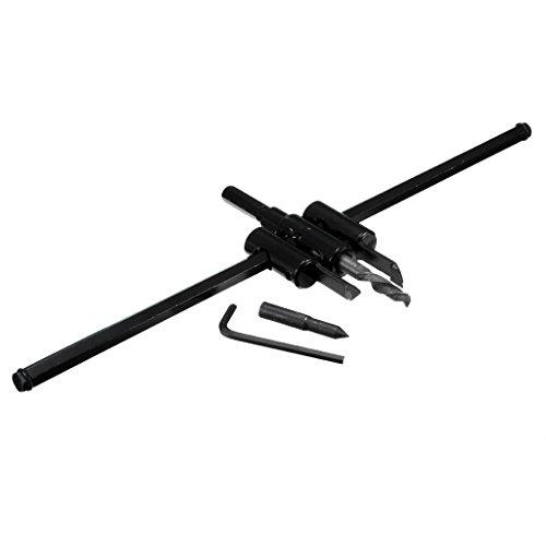 LOVIVER Einstellbare Kreislochschneider Set Mit Holzbohrerwerkzeug Für - 325mm schwarz