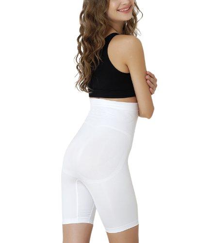 Formeasy Damen Shapewear Miederhose bauch weg stark formend Miederpants mit Bein Taillenformer Shaper angenehme figurformende Wäsche