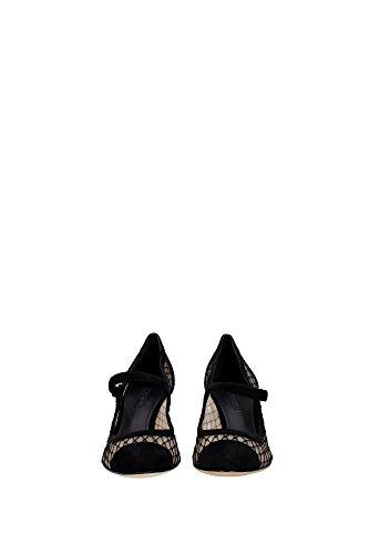 CD0445AD12080999 Dolce&Gabbana Talon Femme Chamois Noir Noir