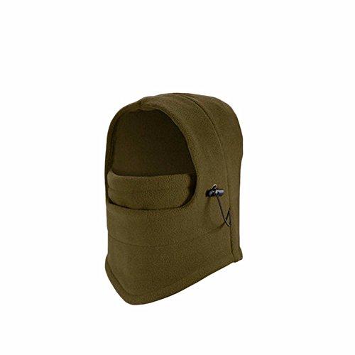 Dicken Maske gedämpft Fox tiger Cap cashmere Sets cs hat Maske warm Snow Cap reiten Equipme, Army (Ski Green Maske Skull)
