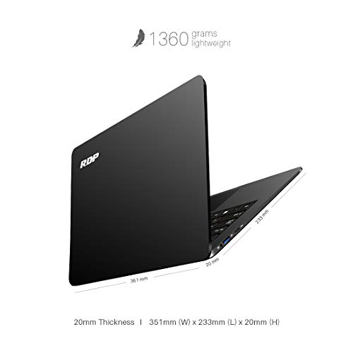 RDP ThinBook Atom Quad Core - (2 GB/32 GB EMMC Storage/Windows 10) 1430b Thin and Light Laptop(14.1 inch, Black, 1.36 kg) 2