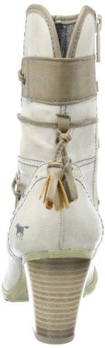Mustang Stiefelette, Stivali donna Avorio (Ivory - Elfenbein (ice 203))