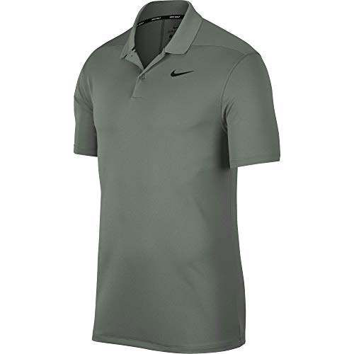 Nike Herren Men's Dry Victory Polo Solid Left Chest, Vintage Lichen/Black, Large - Nike Vintage Shirts