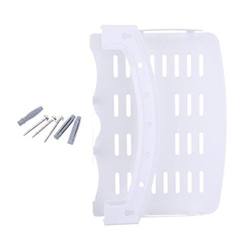 MagiDeal TV-Halterung Komponente Wandmontage 90 Grad faltbar Regal aus Stahl für Kabel-TV-Box dvd - Weiß (Dvr-einheit)