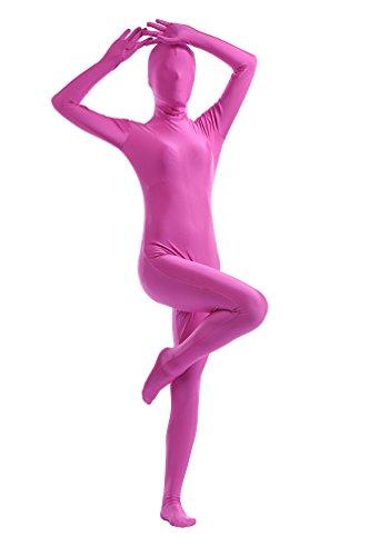 CHENGYANG Second Skin Suit Faschingskostüm Karneval Kostüm Ganzkörperkostüm Halloween Rose 2XL
