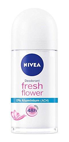 NIVEA 6er Pack Deo-Roller für Damen, Ohne Aluminium, Deo-Schutz, 6 x 50 ml, Fresh Flower