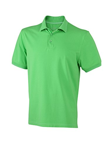 Men's Elastic Polo im digatex-package lime-green