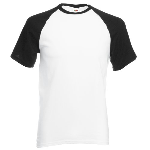 Fruit of the Loom Herren T-Shirt White/Red