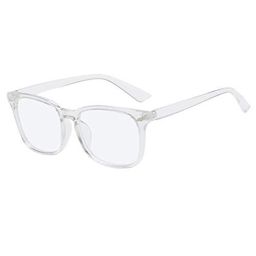 Hhyyq Nerd Brille Damen Keine Macht High-End-Brillengestell Flache Spiegel Studenten Retro-Retro-Brille Großen Rahmen High-End-Brillengestell(B)