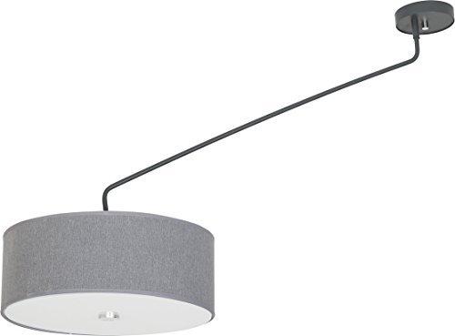 XXL Deckenleuchte Wohnzimmer / grau / 1-flammig / Deckenlampe mit Stoffschirm / verstellbare Leuchte / Lampe Wohnzimmer schwenkbar / Schlafzimmer Beleuchtung