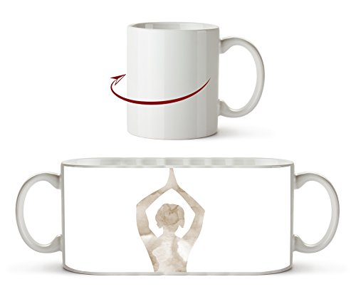 Yoga-Pose-Illustration Effekt: Sepia als Motivetasse 300ml, aus Keramik weiß, wunderbar als...