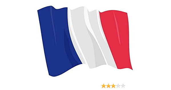 Autoaufkleber Sticker Fahne Frankreich Wehend Flagge Aufkleber Auto