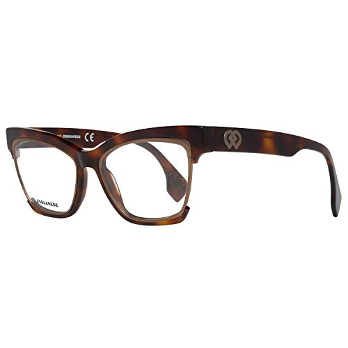 Dsquared2 Damen D Squared Frame DQ5222 052-54-17-145 Brillengestelle, Brown, 54