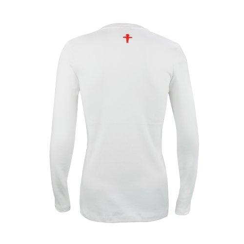 AMPELMANN Langarmshirt Damen - Teufelsweib Geher vorne/kleiner Steher hinten weiß Weiß