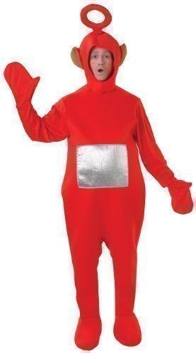 ostüm - Offiziell Lizenzierte Teletubbies-Verkleidung Für Damen & Herren - Tinky-Winky, Po, Dipy, Laa-Laa (Rot, Grün, Lila, Gelb) - Einheitsgröße, Rot (Teletubby Kostüm Erwachsene)