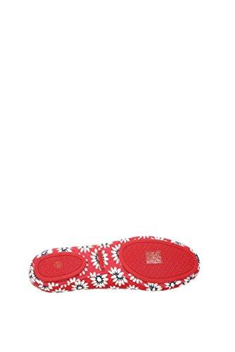 Tory Burch Ballerine Minnie Donna - Pelle (FIORI32727) EU Rosso