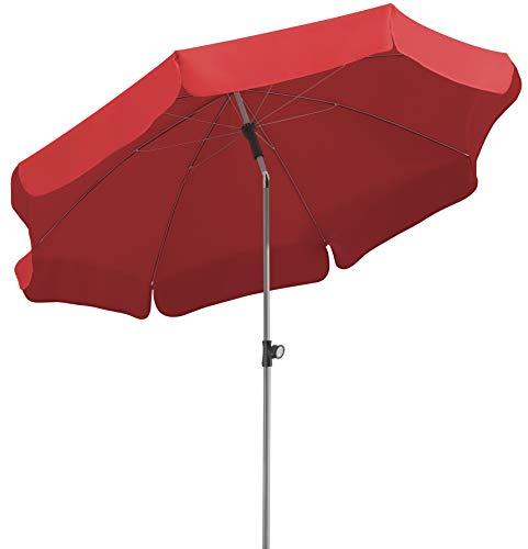 Schneider Sonnenschirm Locarno Rot 200 Cm Rund Gestell Stahl Bespannung Polyester 24 Kg