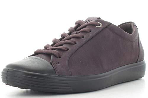 ECCO Damen Soft 7 W Sneaker Violett (Black/Fig 51532) 36 EU Ecco Cap