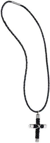 St. Leonhard Herren Halsketten: Modische Herrenkette mit Kreuzanhänger, 49 cm