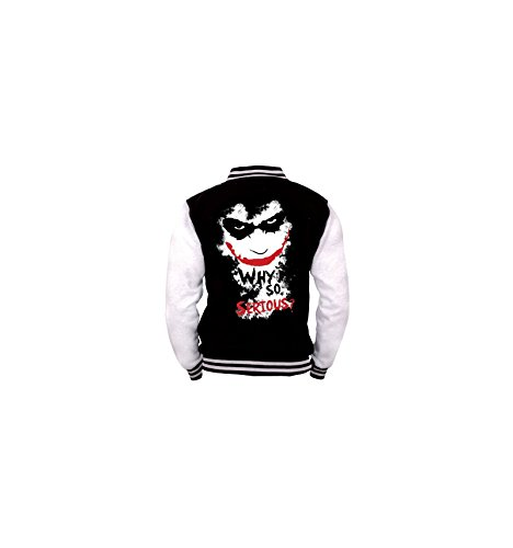 Batman Joker - Why So Serious? Giacca college nero/bianco XXL