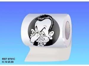 Lot de 2 Rouleaux de Papier Toilette Sarkozy
