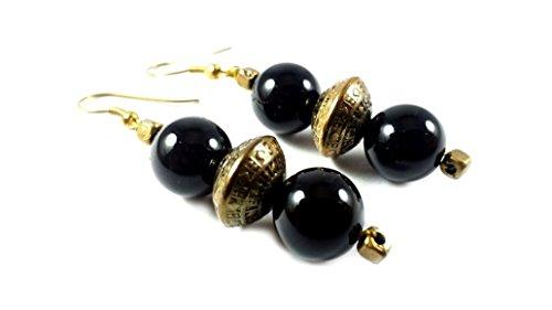 bonanza-day-sale-natural-black-tourmaline-earings-natural-gemstone-original-stone-indian-ethnic-jewe