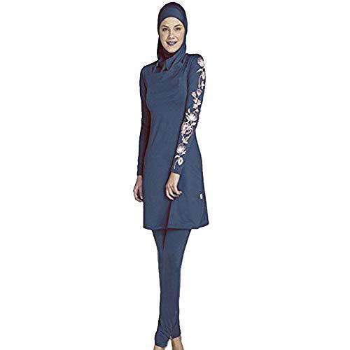 Ziyimaoyi Dezente muslimische Bademode für Frauen und Mädchen, Schwimmanzug (Hijab/Burkini), damen, marineblau, S