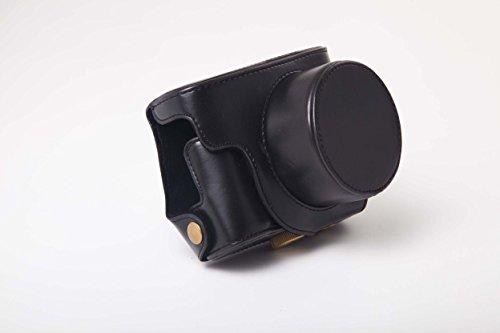 Galleria fotografica Borsa di pelle nera vhbw in poliuretano per macchina fotografica Canon PowerShot G1X Mark 2, G1X Mark II.