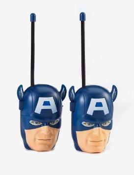 Bambini walkie talkie per i bambini in una selezione di personaggi dei cartoni animati di film bambino senza fili Mini Twin walkie talkie giocattolo (Captain America)