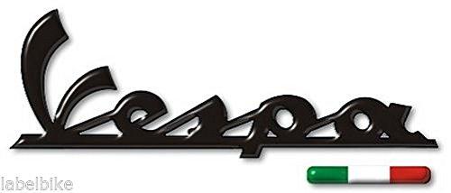 ADESIVI/STICKERS RESINATI 3D SCRITTA VESPA Adesivo per PIAGGIO+BANDIERA ITALIANA