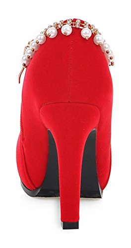 YE Damen Spitze High Heels Plateau Ankle Boots Stiletto