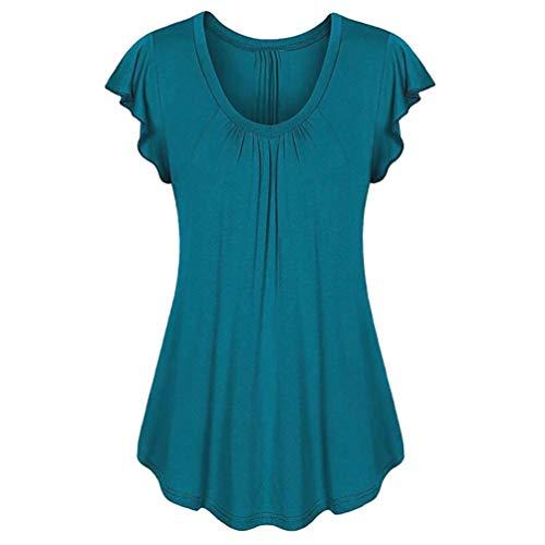 Damen Bluse Ärmellos Bluelucon, Lose Oberteile V Ausschnitt Mode Hemd Elegante Sommershirt T-Shirt Sommerbluse Hemdbluse Tank Tops