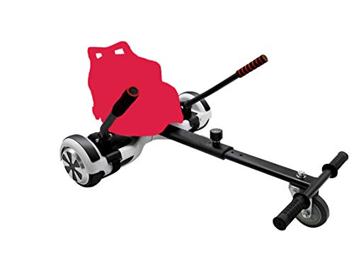 BAYZONN Silla Patinete Electrico Kart Hoverboard Hoverkart Compatible Todas Las Medidas (Rojo)