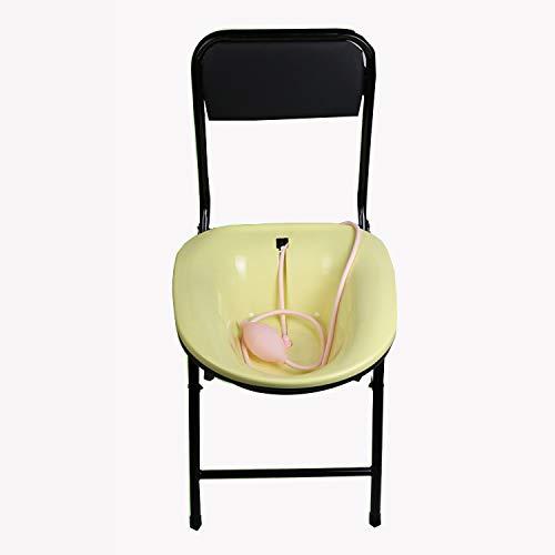 ZMXZMQ Sitzbad und Toilettenstuhl - Komfortstuhl Vermeiden Sie Hockkuren für Schwangere Frauen, Hämorrhoiden-Patienten auf der Toilette, ideal für Camping, Trips, Strand und mehr,Yellow