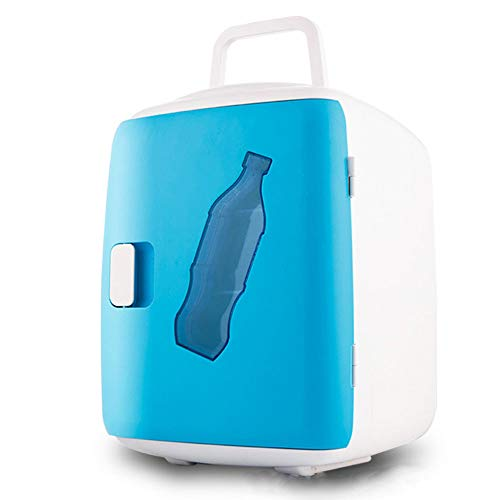 LHAO 12L Auto Kühlschrank, Cools & Heats Persönlicher elektrischer Kühler, tragbarer Compact, Auto Kühlschrank, Road Trips, Häuser, Büros und Schlafsäle,Blue