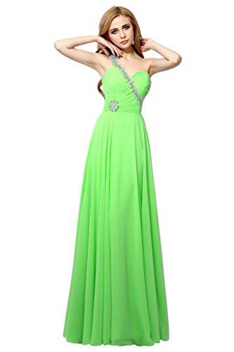 Promgirl House Damen Equisite Chiffon A-Linie Abendkleider Ballkleider Lang Festkleider Partykleider 2015 Grün