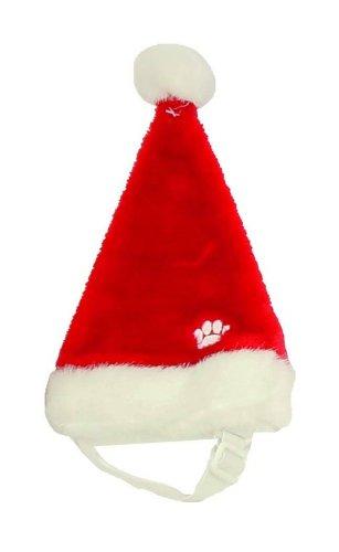 Weihnachtsmützen für Hunde! Santa festlich Hüte in rot mit weißen pelzigen Ordnung und ein Puschel. Einstellbare elastische unter dem Kinn für eine hervorragende Passform. Große für Labrador und Boxer große ()