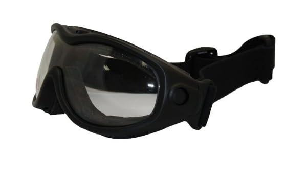 e30aa426b13 Birdz Heron Matte Black Riding Goggles with Clear Lenses  Amazon.co.uk  Car    Motorbike