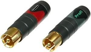 Neutrik Nf2c B 2 Professioneller Cinch Rca Kabelstecker Mit Gold Beschichteten Kontakten Paarweise Verpackt 1 X Rot 1 X Schwarz Musikinstrumente