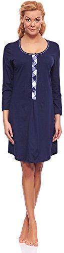 Italian fashion if camicia da notte per allattamento z6t1 m003 (blu scuro, xs)