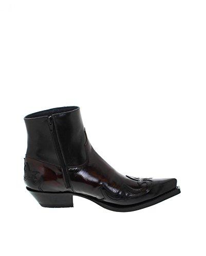 Sendra Boots Stiefel SAMUEL Schwarz Rot Westernstiefel Negro Cherry